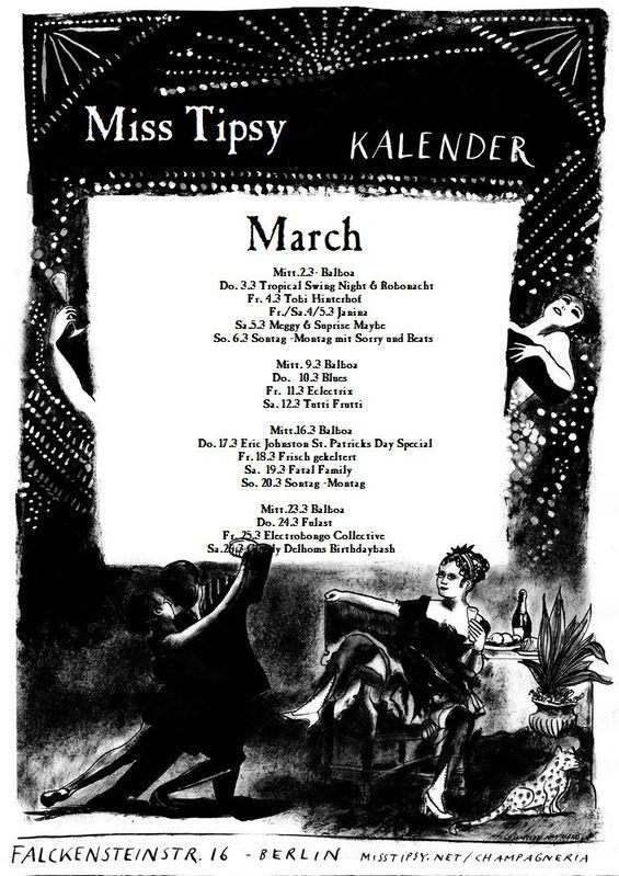 Miss Tipsy Bar | Program :: March 2011