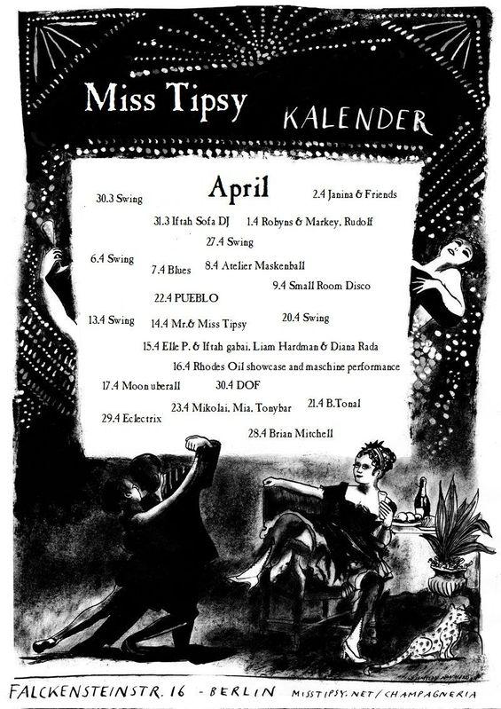 Miss Tipsy Bar | Program :: April 2011