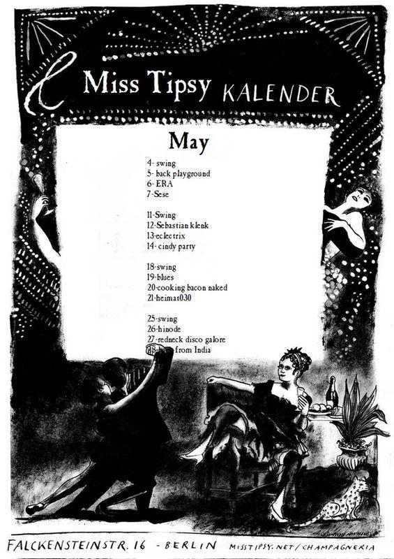 Miss Tipsy Bar | Program :: May 2011